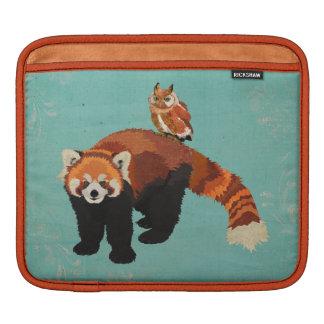 Luva do iPad da panda vermelha & da coruja Bolsas Para iPad