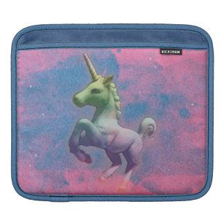 Luva do iPad do unicórnio (cupcake cor-de-rosa) Bolsas De iPad