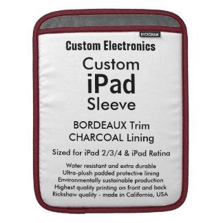 Luva feita sob encomenda do iPad - vertical Bolsas De iPad