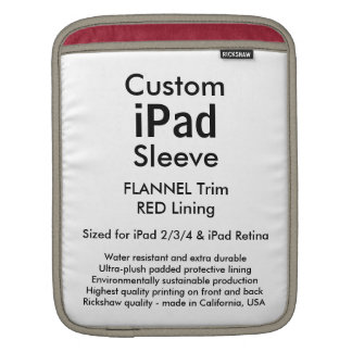 Luva feita sob encomenda do iPad - vertical Bolsas Para iPad