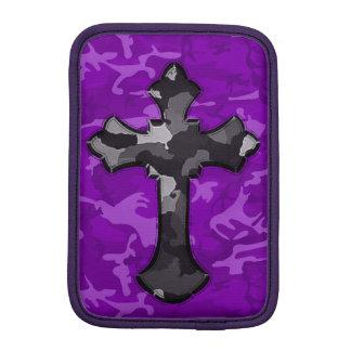 Luva iPad Mini Camo roxo com cruz