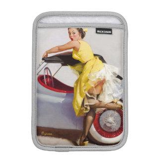 Luva iPad Mini Cubra acima a menina retro do pinup