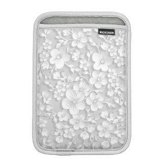 Luva iPad Mini Flores brancas pequenas