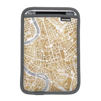 Luva iPad Mini Mapa dourado da cidade de Roma