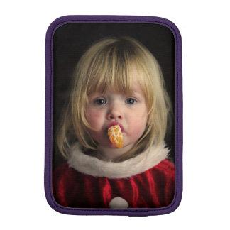 Luva iPad Mini Menina do Natal - criança do Natal - menina bonito