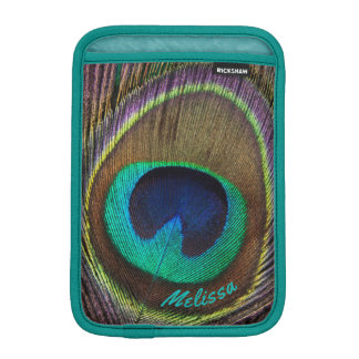 Luva iPad Mini Olho bonito da pena do pavão, seu nome
