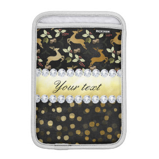 Luva iPad Mini Quadro dos diamantes dos confetes dos cervos do