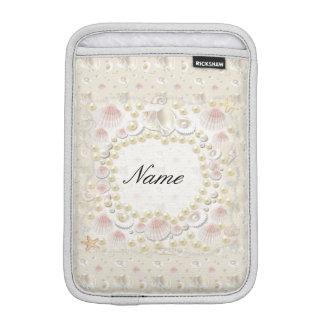 Luva iPad Mini Seashells e pérolas personalizados