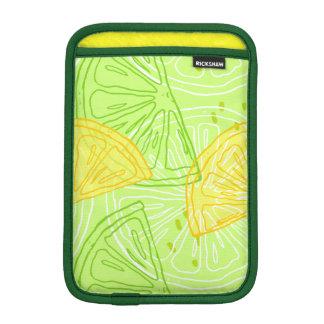 Luva iPad Mini Teste padrão brilhante dos limões do citrino do
