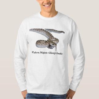 Luva longa básica ocidental do cobra lustroso do camiseta