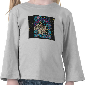 Luva longa da criança 4T feita sob encomenda Camiseta