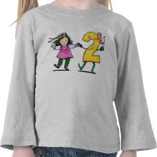 Luva longa da criança camiseta