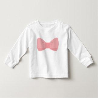 Luva longa da criança cor-de-rosa doce do arco t-shirts