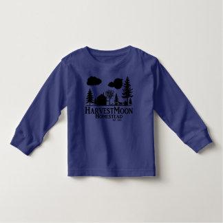 Luva longa da criança da herdade da lua cheia t-shirts