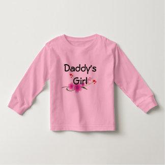 Luva longa da criança da menina do pai t-shirt