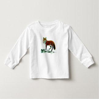 Luva longa da criança do Fox Camiseta