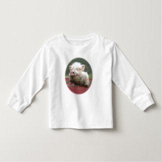 Luva longa da mini criança canadense do bebê do t-shirts
