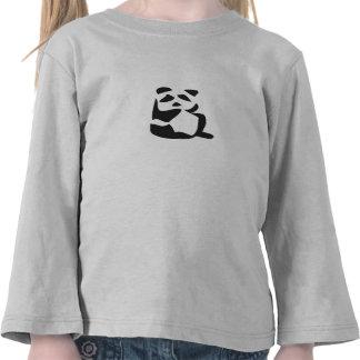 Luva longa da panda bonito tshirt