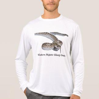Luva longa da SnakeMicro-Fibra lustrosa ocidental T-shirts