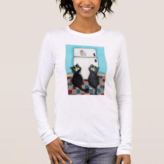 Luva longa das imãs de geladeira camiseta manga longa