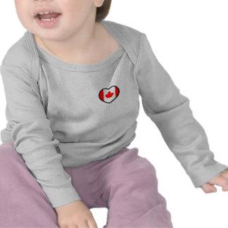 Luva longa de Canadá do coração Tshirts