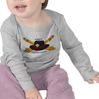 Luva longa do bebê da fundação dos fogos t-shirt
