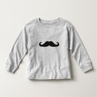 Luva longa dos hipsteres retros dos bigodes do tshirts