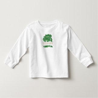 luva longa dos miúdos camiseta