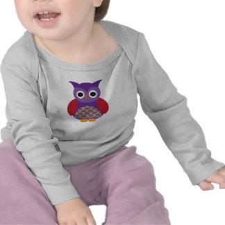 Luva longa infantil, CORUJA Camiseta