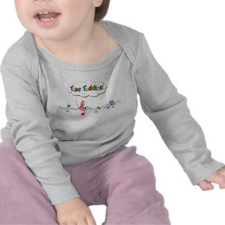 Luva longa infantil das crianças do acordo t-shirts
