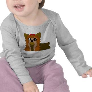 Luva longa infantil de Yorkie Camisetas
