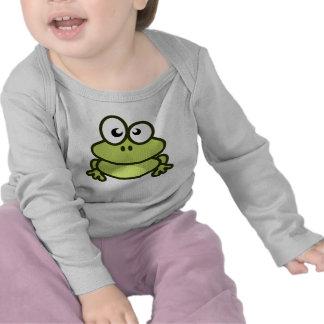 Luva longa infantil do sapo tshirt