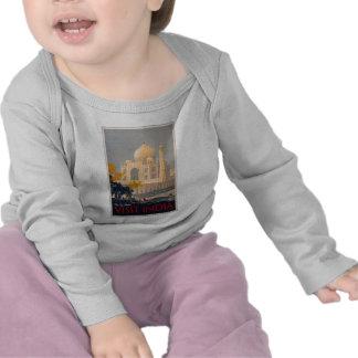 Luva longa infantil T de Taj Mahal T-shirts