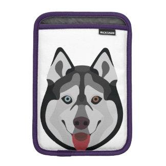 Luva Para iPad Mini A ilustração persegue o rouco Siberian da cara
