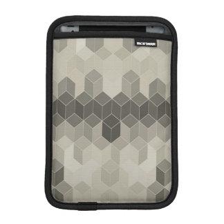 Luva Para iPad Mini Design geométrico do cubo da escala cinzenta