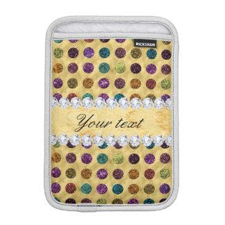 Luva Para iPad Mini Diamantes personalizados das bolinhas do brilho