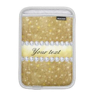 Luva Para iPad Mini Estrelas Sparkling e diamantes do ouro chique