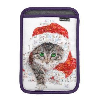 Luva Para iPad Mini gato de Papai Noel - colagem do gato - gatinho -