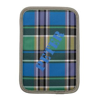 Luva Para iPad Mini HAMbWG - caixa do computador - xadrez azul