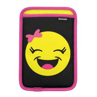Luva Para iPad Mini Menina bonito & feliz de Emoji