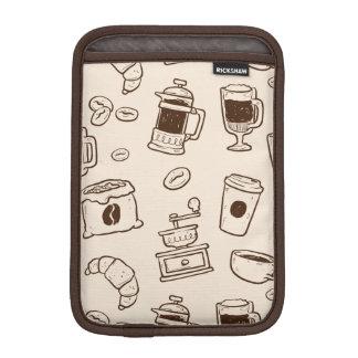 Luva Para iPad Mini Os feijões de café de Brown ilustraram o teste