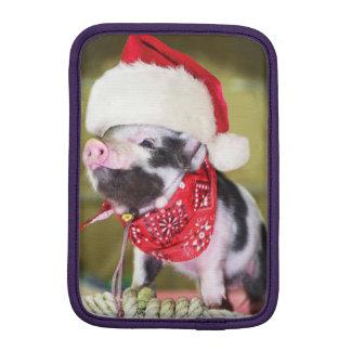 Luva Para iPad Mini Porco Papai Noel - porco do Natal - leitão
