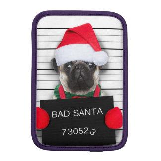 Luva Para iPad Mini Pug do Natal - cão do mugshot - pug do papai noel