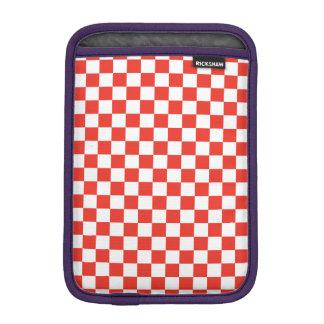 Luva Para iPad Mini Tabuleiro de damas vermelho
