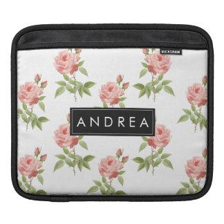 Luva personalizada jardim de rosas do iPad Capas Para iPad