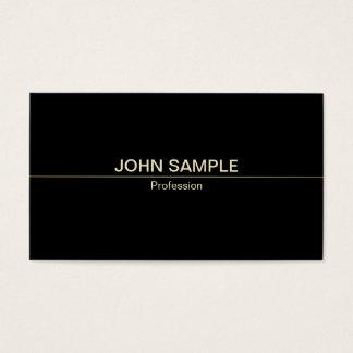 Luxo elegante preto profissional moderno liso cartão de visitas