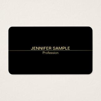Luxo preto elegante profissional do ouro branco cartão de visitas
