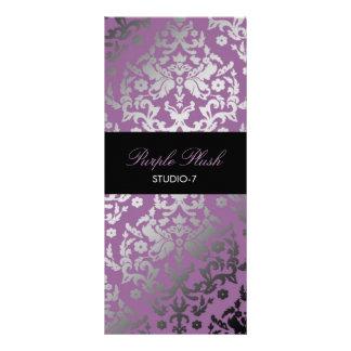 Luxuoso do roxo do damasco do brilho 311 modelo de panfleto informativo