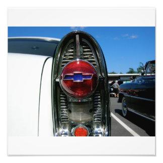 Luz 1955 da cauda do Bel Air de Chevrolet Impressão De Foto