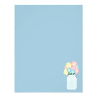 Luz à moda - azul que enlata o frasco de pedreiro flyer 21.59 x 27.94cm